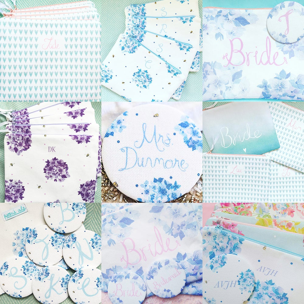 Image of Peonie Cole Bride and Wedding Party Pouches