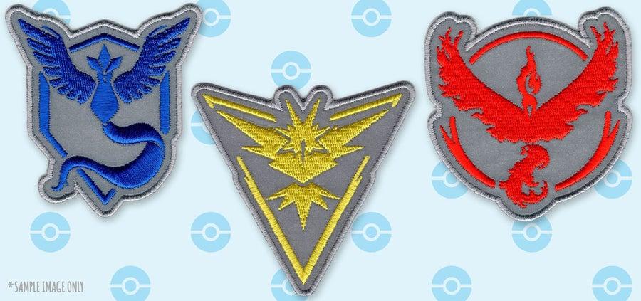 Image of Pokémon Go: Reflective Team Emblem Patches
