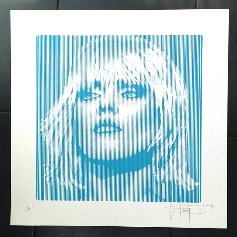 Image of DEBBIE HARRY... PARALLEL LINES  BLUE EDITION OF 25 only 6 prints left