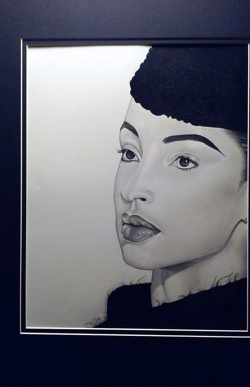 Image of Matted Original Sade Drawing