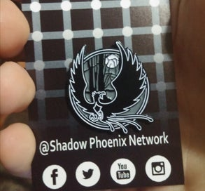 Image of Shadow Phoenix Hat Pin