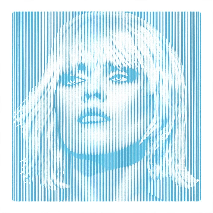 Image of DEBBIE HARRY... Parallel Lines - BLUE - 1/2 artist proof