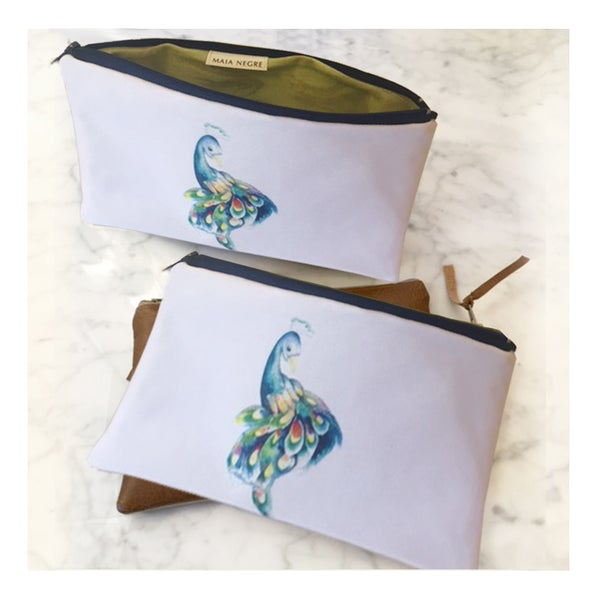 Image of Peacock Zip Clutch