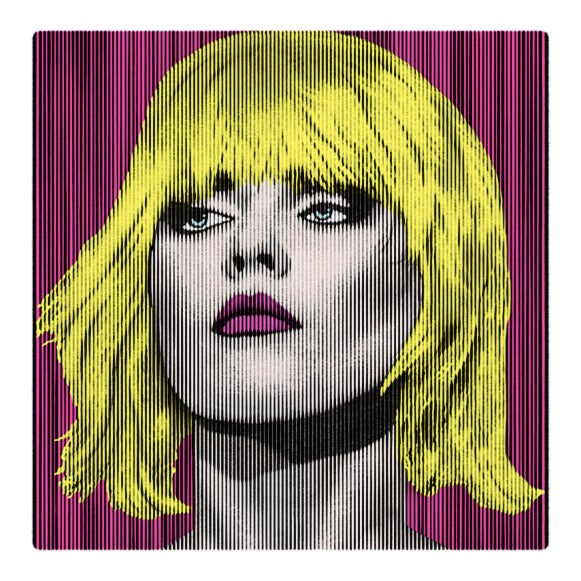 Image of  DEBBIE HARRY.... PARALLEL LINES neon bombshell 1/1 proof