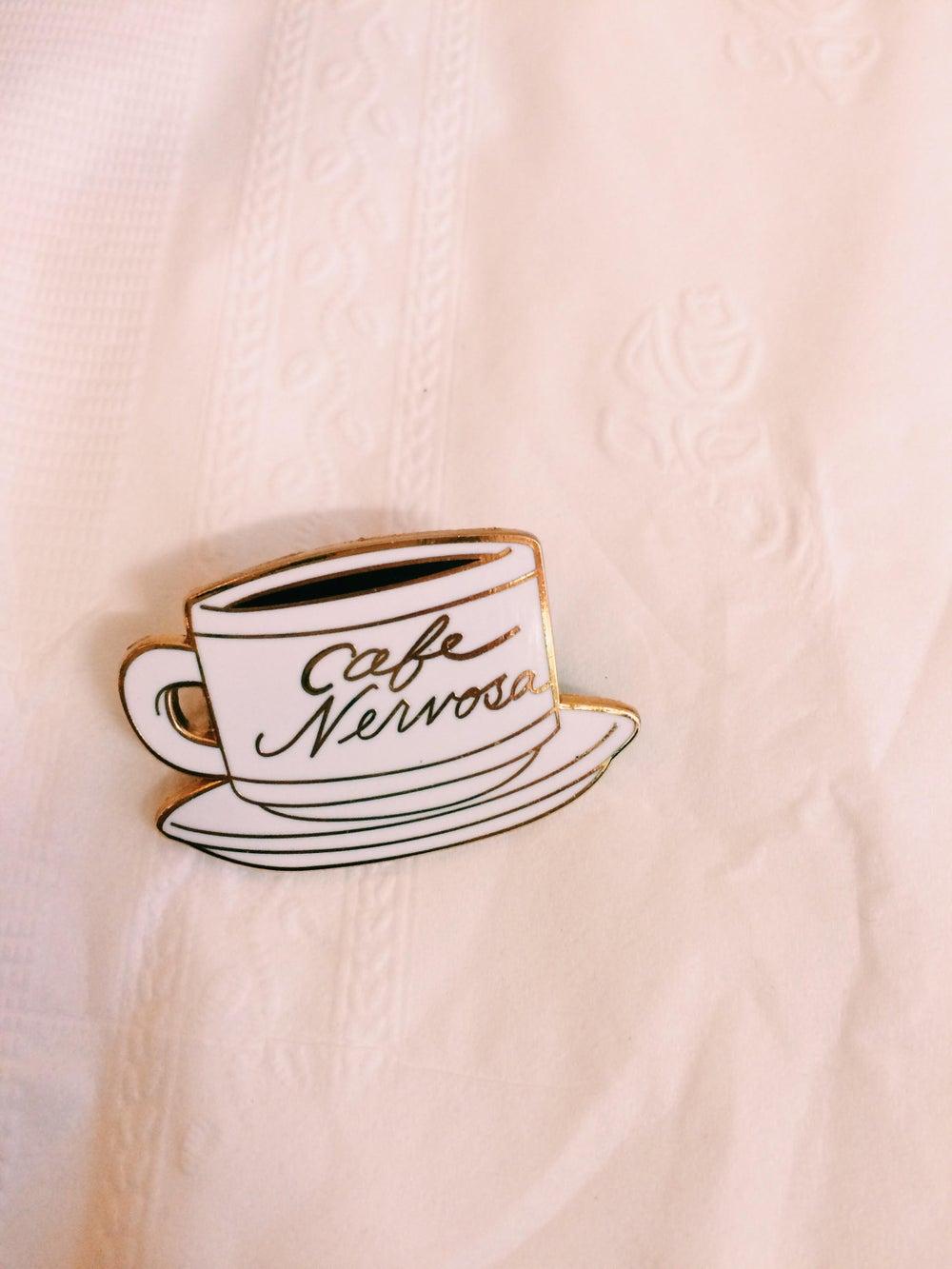 Image of Cafe Nervosa Frasier enamel pin