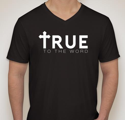 Image of True To The Word Logo || Black w/ White Logo || V-Neck