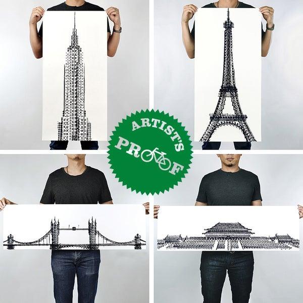 Image of 100copies Tyre Tracks series - New York, Paris, London & Beijing