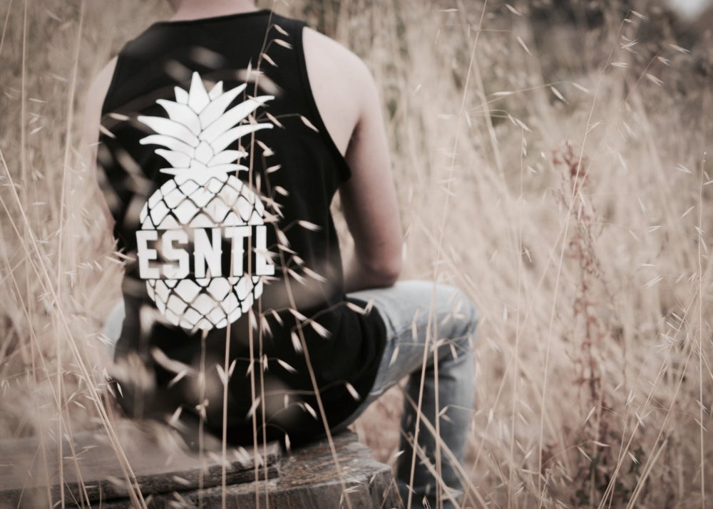 """Image of ESNTL """"Sugar Loaf"""" tank top."""