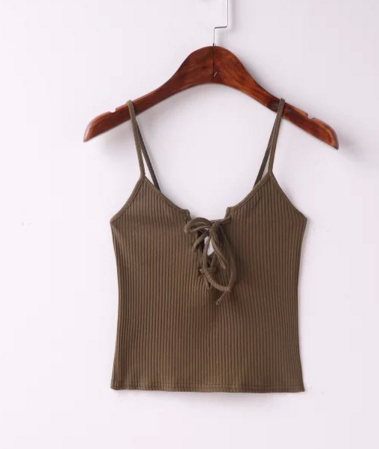 Image of Sexy little chest straps tying slits TOPS