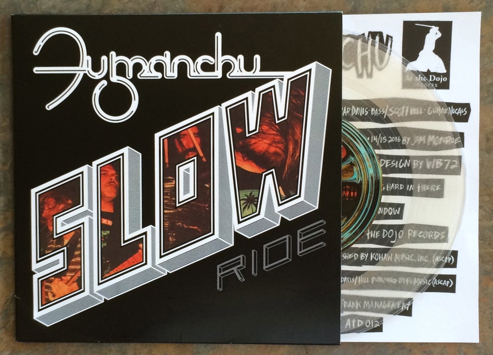 "Image of Fu Manchu ""slow ride / future transmitter"" clear 7"""