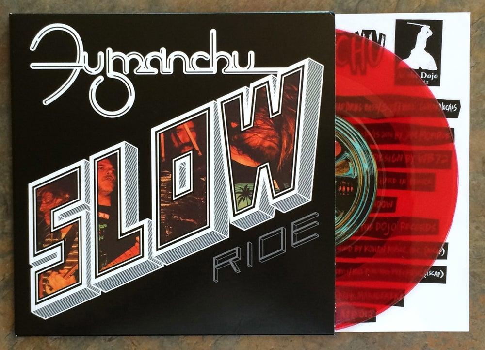 """Image of Fu Manchu """"slow ride / future transmitter"""" red vinyl 7"""""""
