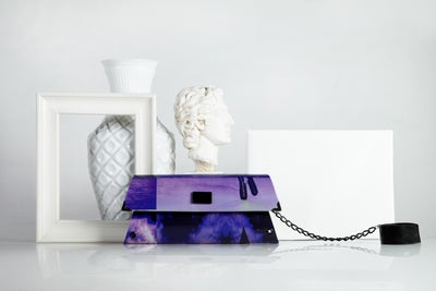 Image of 80's lover / asymmetrical clutch
