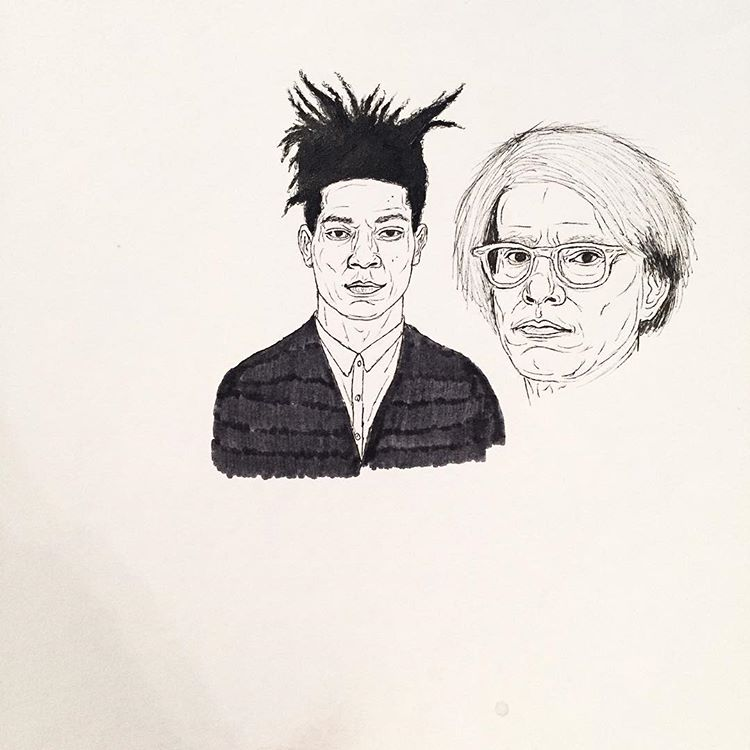 Image of basquiat and warhol