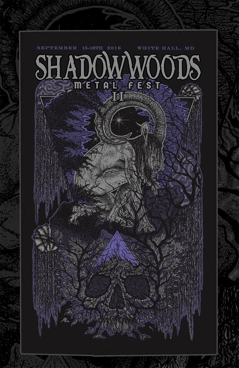 Image of 2016 Shadow Woods Metal Fest Exclusive Art Print