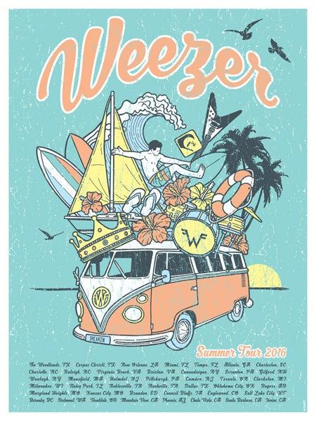 Image of Weezer Summer Tour 2016 Blue Version