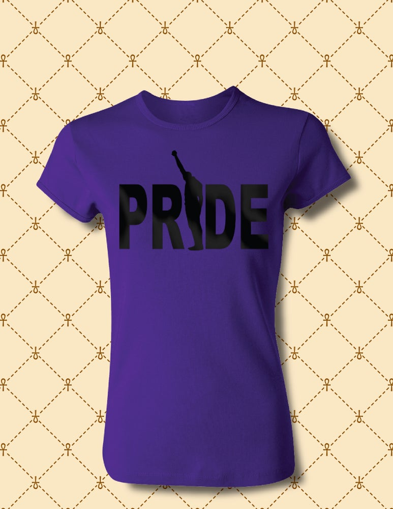 Image of WOMEN'S BLACK PRIDE TEE