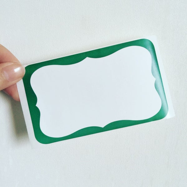 Image of Green Wave Blank Eggshell Sticker