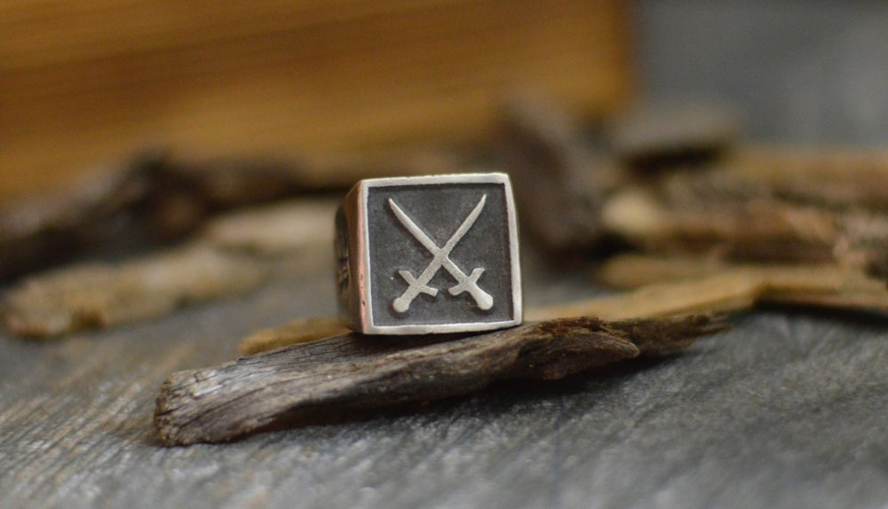 Image of THE KNIGHT ( rustic ring )