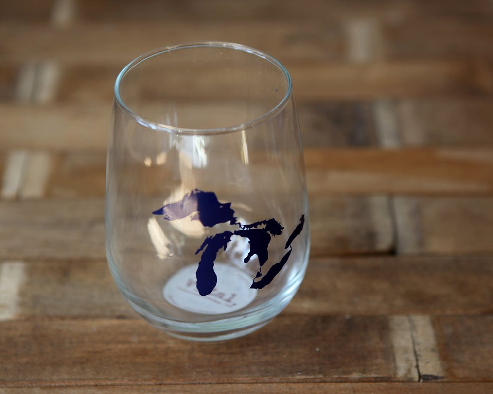 Image of Great Lakes Stemless Wine Glass