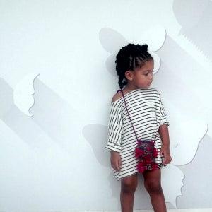 Image of Stripe Jersey Dress