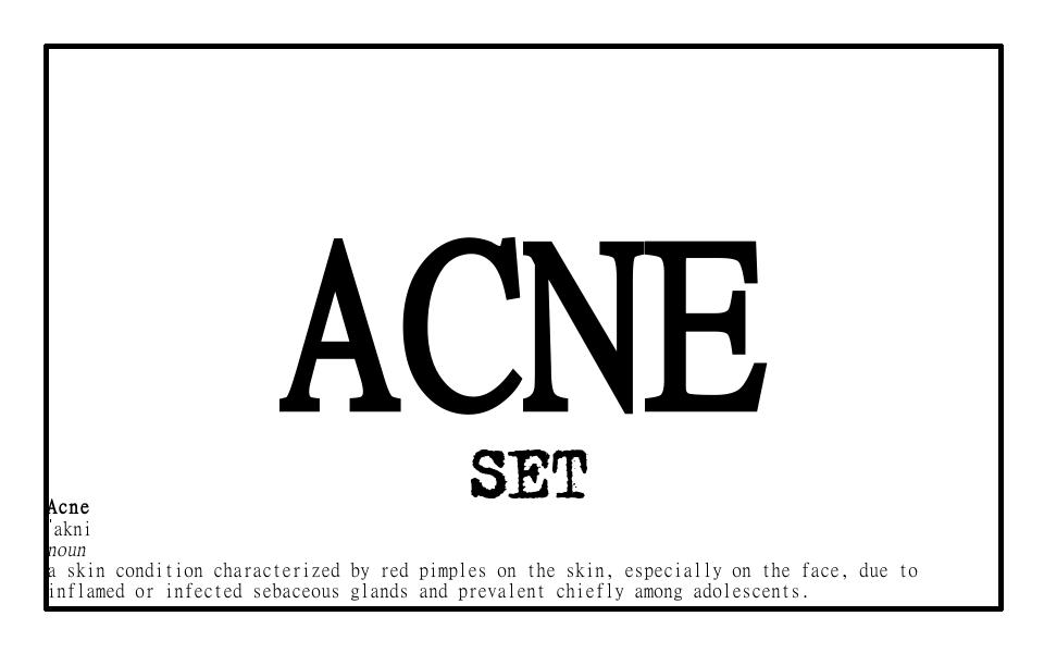 Image of Acne Set