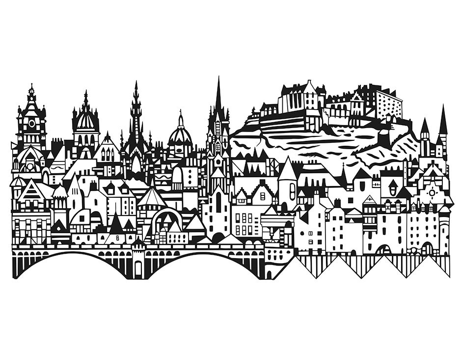 Image of Edinburgh Skyline screen print