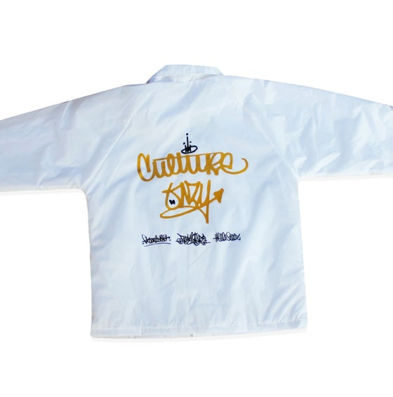 Image of Freelance x Flooristas x HellaSteez Collaboration White coach Jacket