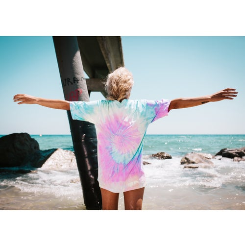 "Image of Camiseta tie dye ""GOOD VIBES ONLY"""