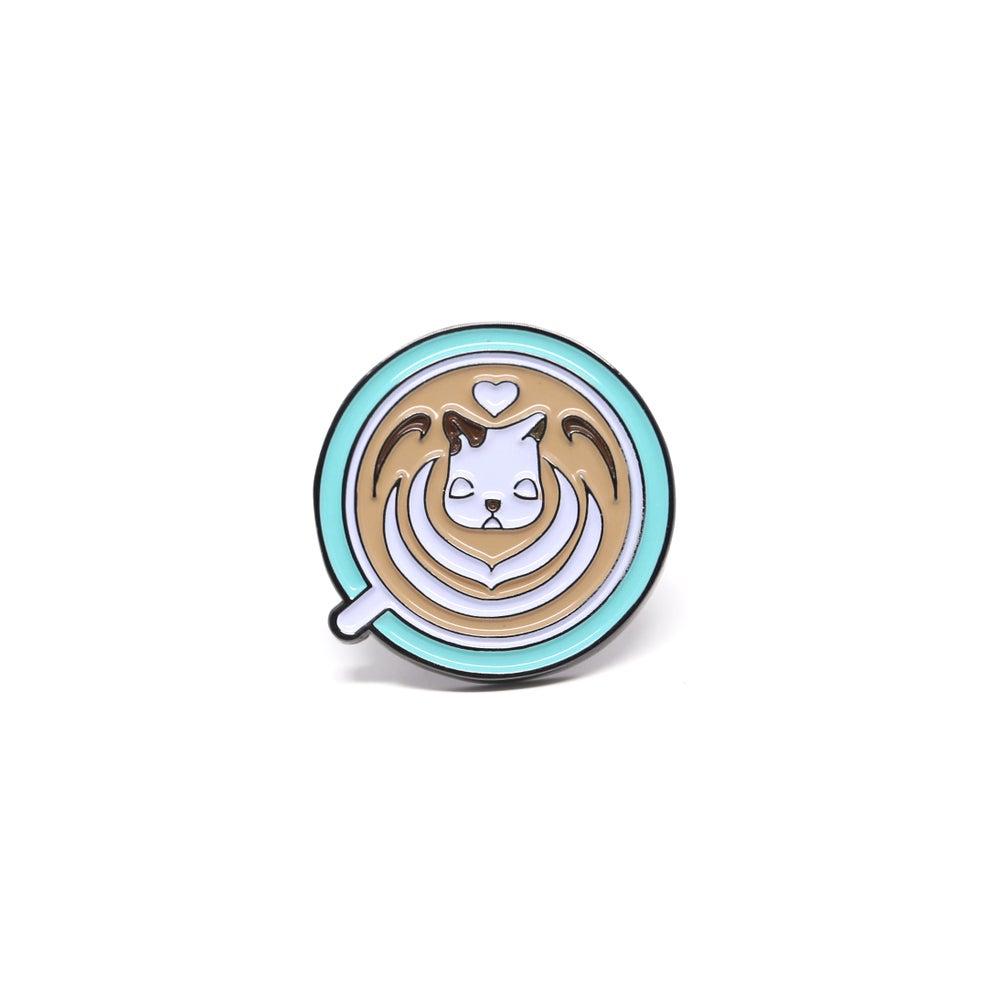 Image of Daydream Nimbus Latte art Pin - Heart