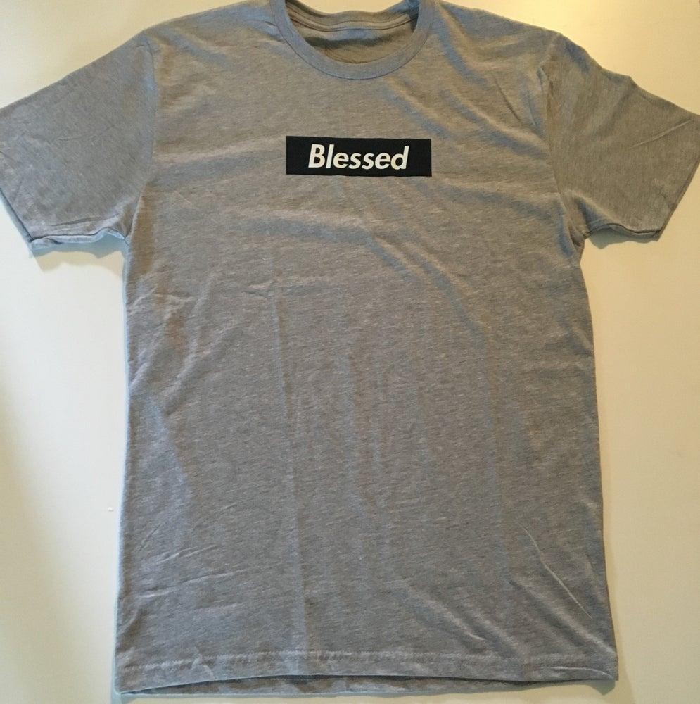 Image of Blessed Box Logo Dark Blue