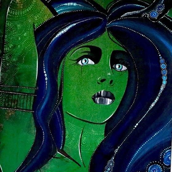 Image of Dahlia -Original Painting- By Trisha Lurie