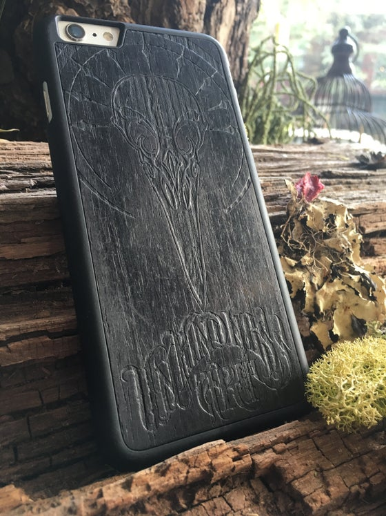 Image of Custom Unkindness Art Wooden Phone Case