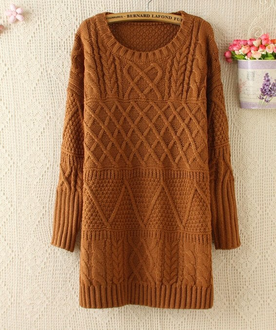Image of CUTE LONG SWEATER DRESS