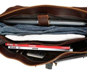 "Image of Men's Handmade Leather Briefcase / Messenger / 15"" MacBook 14"" 15"" Laptop Bag (n47-4)"