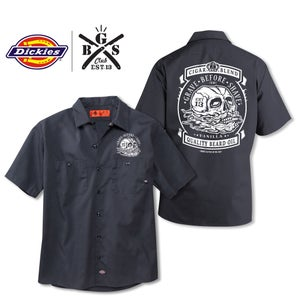 Image of G.B.S. Club GRAVE BEFORE SHAVE Cigar Blend Dickies shirt