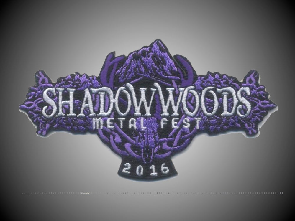Image of 2016 Shadow Woods Metal Fest embroidered patch