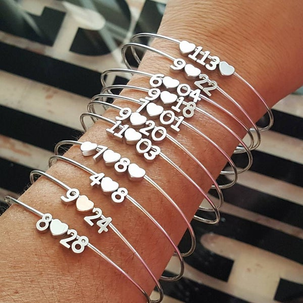 Image of Special Date Number bangle
