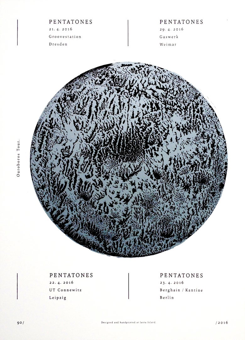 Image of »Pentatones« Gig-Poster