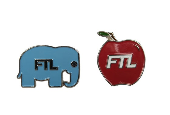Image of Elephant & Apple PINS