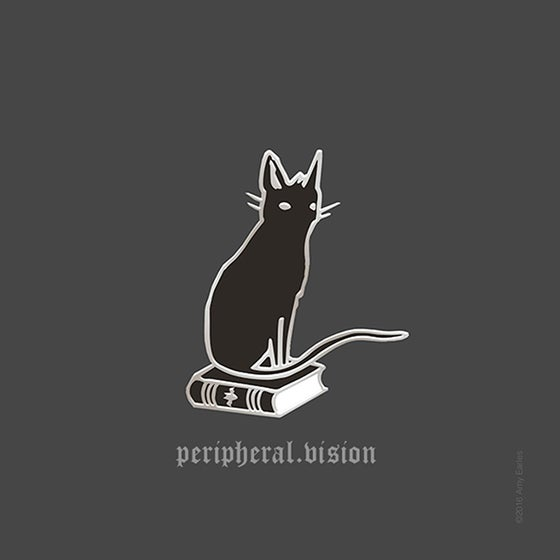 Image of PRE-ORDER - Peripheral Vision - 1.25 inch cloisonné pin with locking pin back