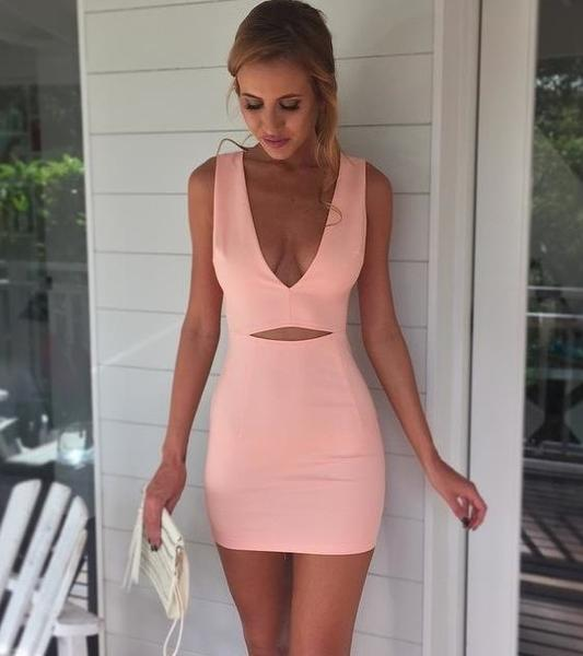 Image of CUTE DEEP V HOT DRESS