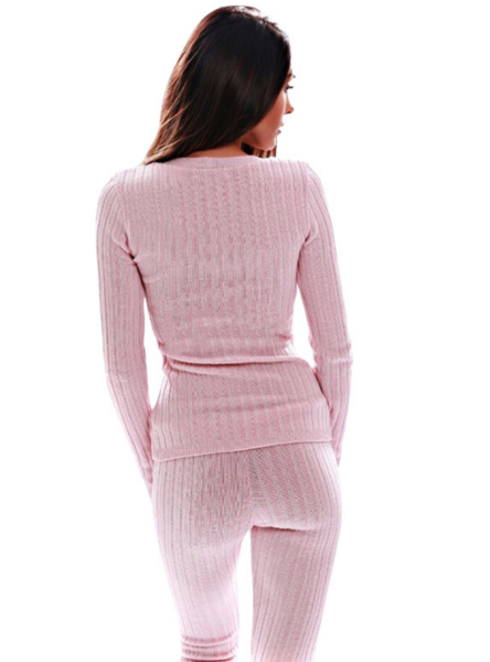 Image of CUTE PINK TWO PIECE CROSS JUMPSUIT SUIT