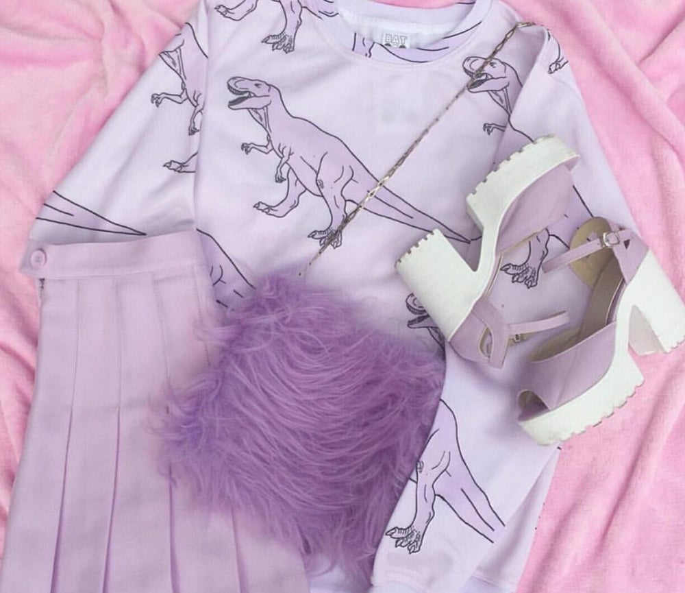 Image of The lilac one' Fluffy bag