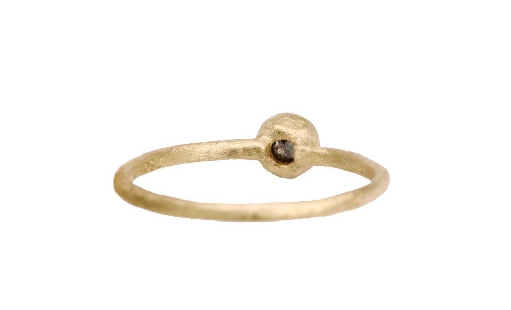 Image of Charcoal grey diamond ring. Handmade engagement. Agnes