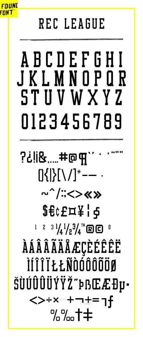 Image of Rec League font