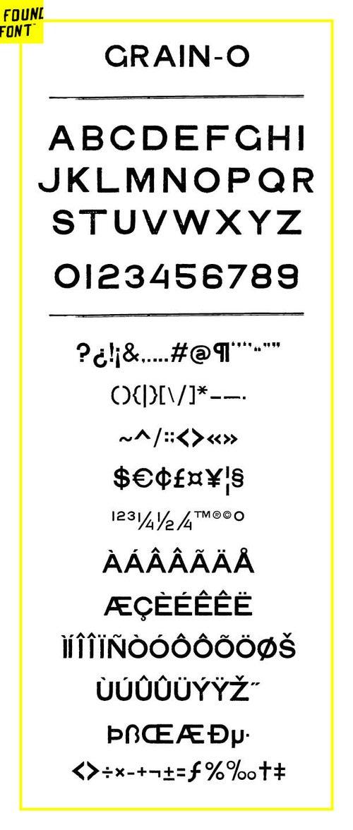 Image of Grain-O All Caps font