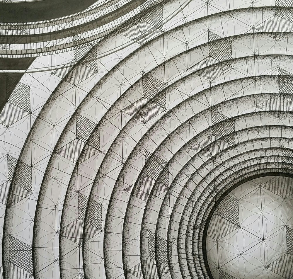 Image of 'Blueprints for Time Travel - No.1' original illustration