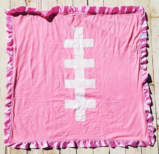Image of Pink Touchdown Blanket