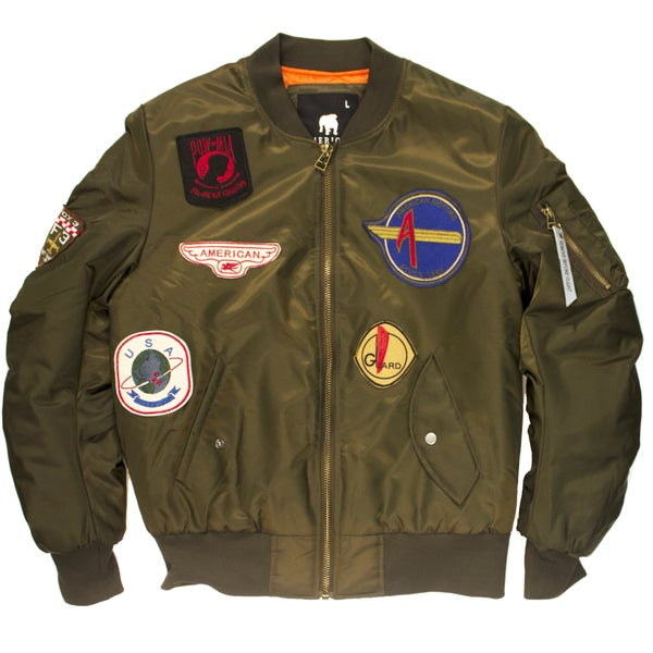 Image of FLIGHT BOMBER JACKET OLIVE