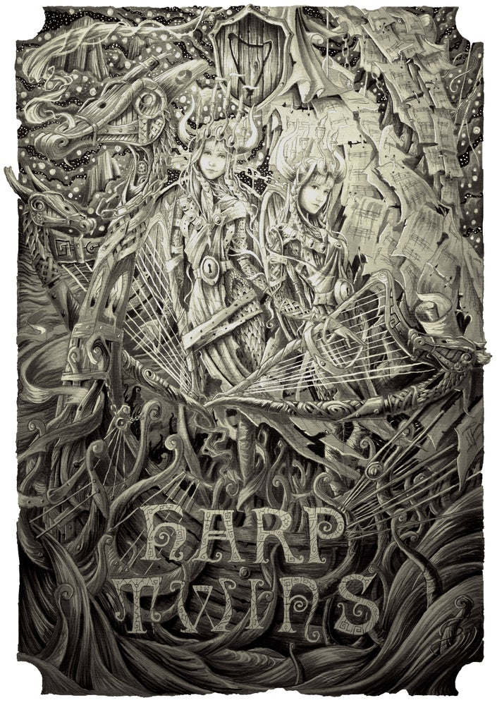 Image of Harp Twins VIKINGS ARTWORK Poster